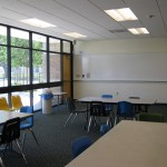Custom Storefront lets in natural light into the classroom.