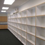 There is no lack of cubby space in the classrooms.