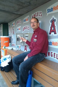 Tom Riggins calling the bullpen at Angel Stadium 11/18/2010
