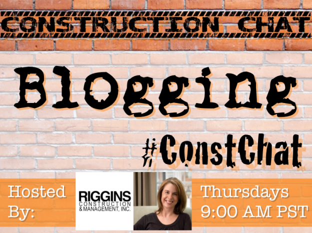 Blogging - #ConstChat Topic 8/13/15 Co-Hosted by Tess Wittler