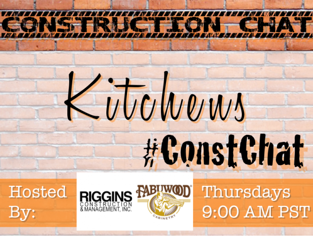 Kitchens #ConstChat Topic 10/22/15 with Co-Host @Fabuwood